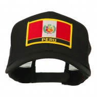 South America Flag Letter Patched Mesh Cap - Peru