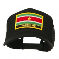South America Flag Letter Patched Mesh Cap - Suriname