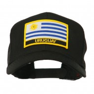 South America Flag Letter Patched Mesh Cap - Uruguay