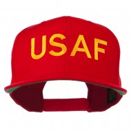 USAF Military Embroidered Flat Bill Cap - Red