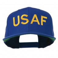 USAF Military Embroidered Flat Bill Cap - Royal