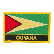 South America Flag with Name Embroidered Patch - Guyana