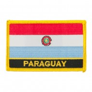 South America Flag with Name Embroidered Patch - Paraguay
