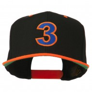 Arial Number 3 Embroidered Classic Two Tone Cap - Neon Orange