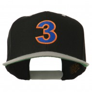 Arial Number 3 Embroidered Classic Two Tone Cap - Black Silver