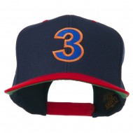 Arial Number 3 Embroidered Classic Two Tone Cap - Navy Red