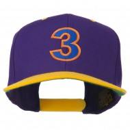 Arial Number 3 Embroidered Classic Two Tone Cap - Purple Gold