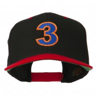 Arial Number 3 Embroidered Classic Two Tone Cap - Black Red