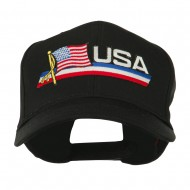 Flag and Name Patched Cap - USA