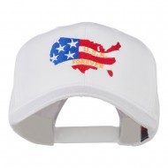 United States with USA Forever Embroidered Cap - White