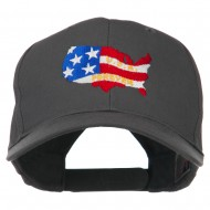 United States with USA Forever Embroidered Cap - Charcoal Grey