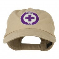 First Aid Logo Embroidered Pigment Dyed Cotton Cap - Khaki