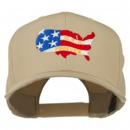 United States with USA Forever Embroidered Cap - Khaki