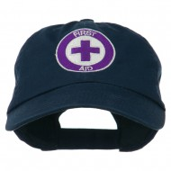 First Aid Logo Embroidered Pigment Dyed Cotton Cap - Navy