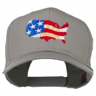 United States with USA Forever Embroidered Cap - Grey