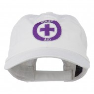 First Aid Logo Embroidered Pigment Dyed Cotton Cap - White