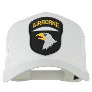 101st Airborne Patched Cap - White