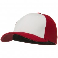 Two Tone Flexfit Performance Cap - Red White Red