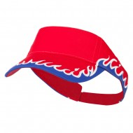 Cotton Twill Flame Visor - Red Royal White