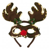 Felt Rudolph Mask and Antlers Set - Brown