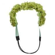 Flower Elastic Hairband - Lime