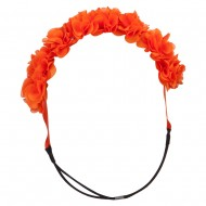 Flower Elastic Hairband - Orange