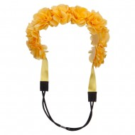 Flower Elastic Hairband - Yellow