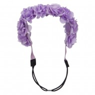 Flower Elastic Hairband - Lavender