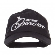 Future Groom Embroidered Washed Ball Cap - Black