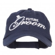 Future Groom Embroidered Washed Ball Cap - Navy