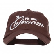 Future Groom Embroidered Washed Ball Cap - Brown