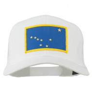 Alaska State Flag Patched Mesh Cap - White
