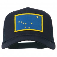 Alaska State Flag Patched Mesh Cap - Navy