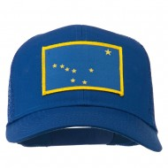 Alaska State Flag Patched Mesh Cap - Royal