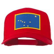 Alaska State Flag Patched Mesh Cap - Red