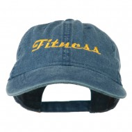Fitness Wording Embroidered Cap - Navy