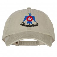 Air Force Thunderbird Embroidered Big Size Washed Cap - Stone