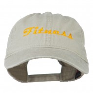 Fitness Wording Embroidered Cap - Khaki