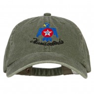 Air Force Thunderbird Embroidered Big Size Washed Cap - Olive