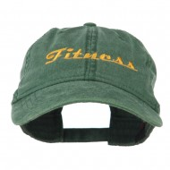 Fitness Wording Embroidered Cap - Dark Green