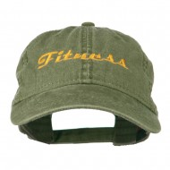 Fitness Wording Embroidered Cap - Olive Green