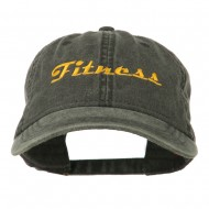 Fitness Wording Embroidered Cap - Black