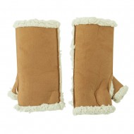Woman's Faux Shearling Arm Warmer - Natural