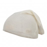 Long Deep Shell Slouchy Beanie - Ivory