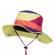 Roll Up Folded Brim Outdoor Hat - Yellow