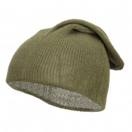 Long Deep Shell Slouchy Beanie - Sage
