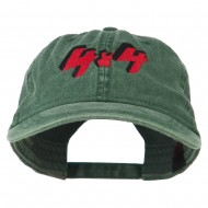 4 By 4 Embroidered Washed Cap - Dark Green
