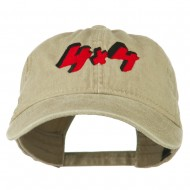 4 By 4 Embroidered Washed Cap - Khaki