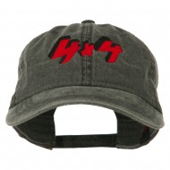 4 By 4 Embroidered Washed Cap - Black