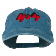4 By 4 Embroidered Washed Cap - Sky Blue